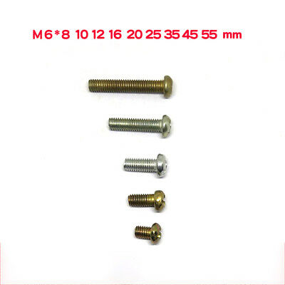 M6 Round Head Phillips Machine Screws Zi-Plated For Switch Socket Panel Mounting
