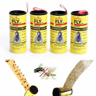 4/8/12/16/24pcs Fly Paper Strong Sticky Glue Insect Bug Catcher Roll Tape Strip