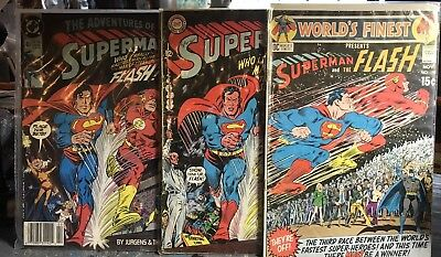 Superman / FLASH Race Comics 1st & 3rd Race. 199 Homage Cover See Photos