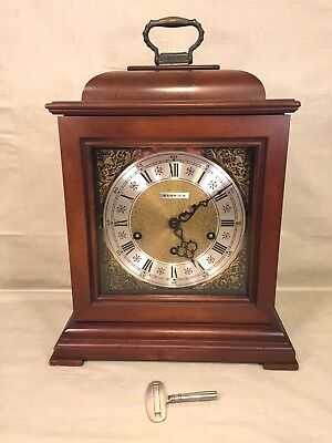 Barwick Bracket Clock 3 Chime Options Runs Striking &  Chiming Correctly