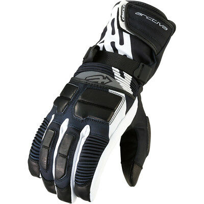 Arctiva Comp Rr S6 Snowmobile Waterproof Long Gloves - Black/white Adult 2Xl
