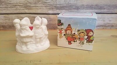 """Vintage Avon 1980 Glow Of Christmas Floral Medley Fragrance Candle 1.5"""" Tall New"""