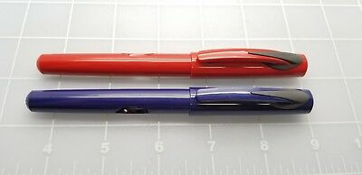 Judd's Lot of 2 Very Nice Pelikan R57 Red & Blue Rollerball Pens