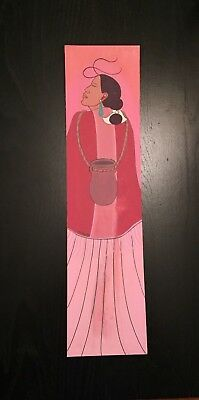 """Black sheep Painting Navajo  aprox.4 X 16"""" SOLD AS IS"""