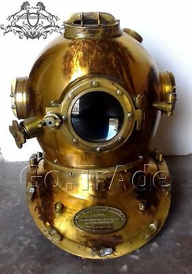 US Navy Mark V Diving Divers Helmet Antique Style Chrome Vintage Gift Helmet