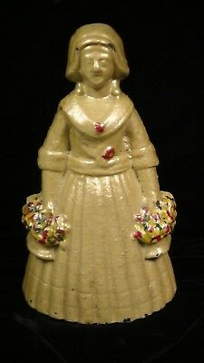 Judd Co. Woman Holding Two Flower Baskets Cast Iron Doorstop #1270  Lot#315