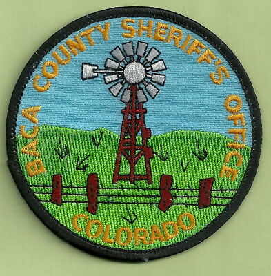 Baca County Sheriffs Office Colorado Police Patch-Round
