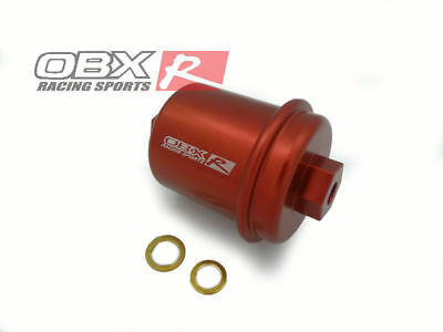 obx red fuel filter for 94-01 acura integra, 94-97 honda accord