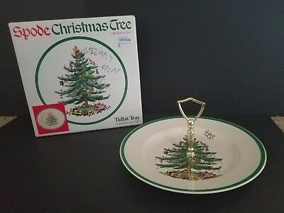 Spode Christmas Tree Tidbit Tray for Appetizers/Desserts/Cookies NEW IN BOX!
