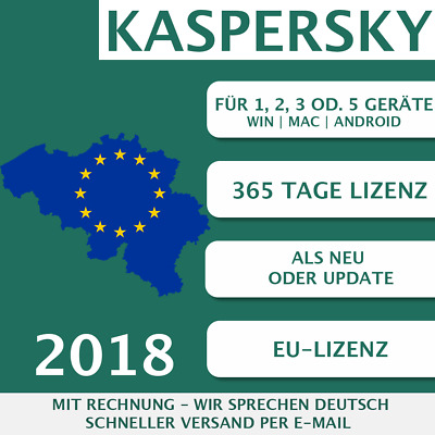 Kaspersky Internet Security 2018 EU [3 PC, 3 GERÄTE - KEY - ESD]