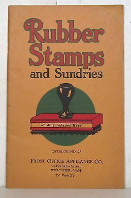 Office supplies: Vintage catalog of rubber stamps and sundries