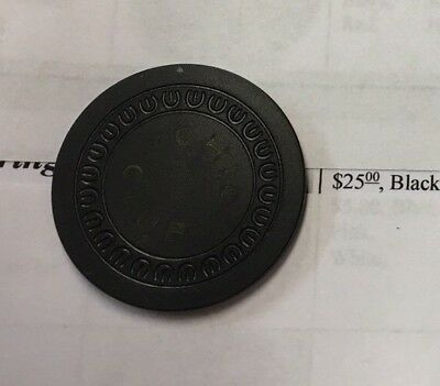 OHIO Club RARE Black $25 Hot Springs AR Illegal Gambling Casino Chip NR