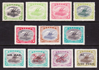 PAPUA- NEW GUINEA 1907-31 SELECTION OF 11 SG66,84a,85,93,94,95,98etc MINT LH/VLH