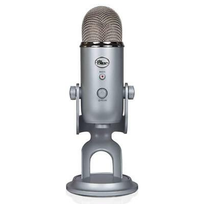 Blue Microphones Yeti USB Wired Professional Condenser Mic -Silver-NEW SEALED!