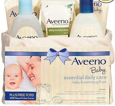 NEW Aveeno Baby & mommy essential daily care gift set daily moisture lotion