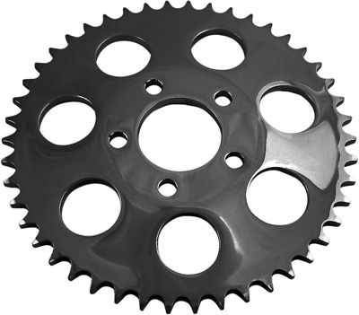 """Gloss Black 530 Chain Conversion Rear Sprocket 48-T Dished - 2.22"""" Center Hole"""