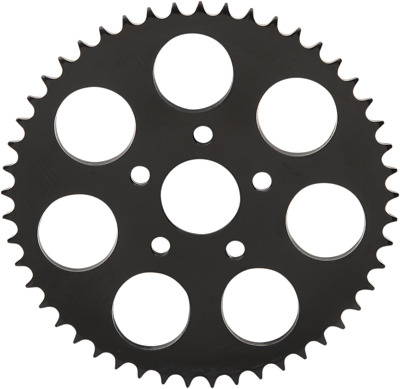 """Gloss Black 530 Chain Conversion Rear Sprocket 49-T Dished - 1.9"""" Center Hole"""