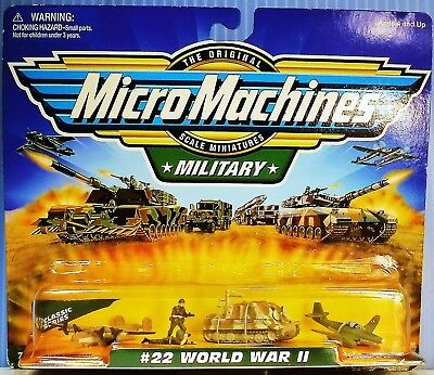 """""""#22 World War Ii"""" Collection Military 1999 Galoob Micro Machines Noc Scarce One"""