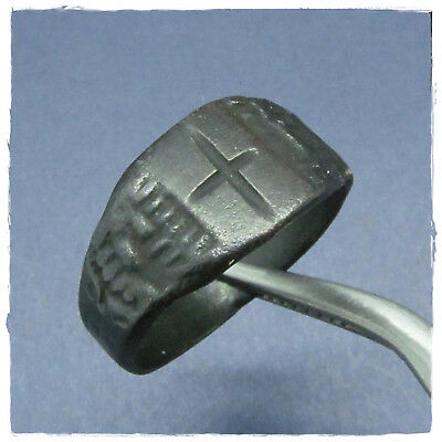 ** CROSS  ** ancient  BRONZE BYZANTINE  ring !!!