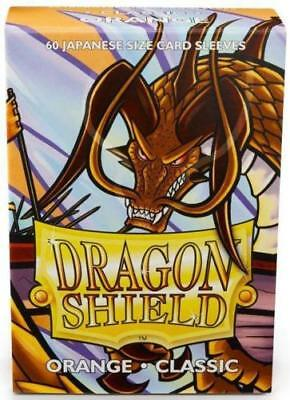 YUGIOH Dragon Shield Mini 60 JAPANESE  Sleeves Classic - ORANGE  - Small Size