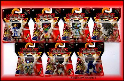 """New YU-GI-OH 7 Figures 2"""" Series #6 with Free POSTER 40""""x27"""" 2002"""