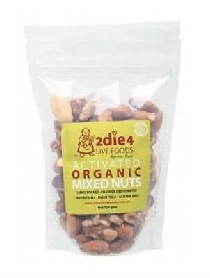 2die4 Live Foods Activated Organic Mixed Nuts 120g