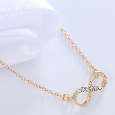 Stainless Steel Infinity Love Charm Women's Jewelry Necklace Gift free shipping