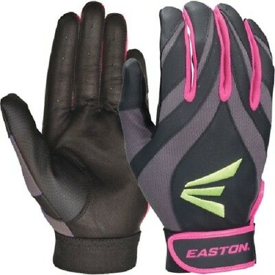 No Tags 1 pr Easton Synergy II Youth Large Softball Batting Gloves PK/Green/GY