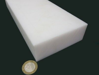 """Acetal Delrin Bar 1 1/2"""" (1.50"""") Thick x 4.00"""" Wide x 48"""" Long White"""