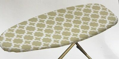 Gold Pattern Ironing Board Cover Thick Felt Backing Easy Fit Free Postage New