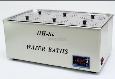 1500W Digital Thermostatic Water Bath 6 Hole 500*300*150MM New tz