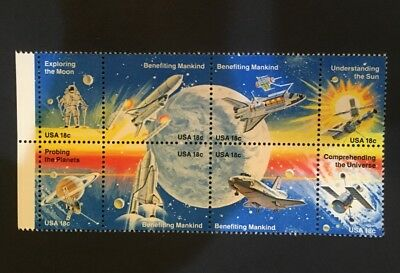 Space Achievement MNH Block Of 8 .18 stamps Scott's 1912-1919
