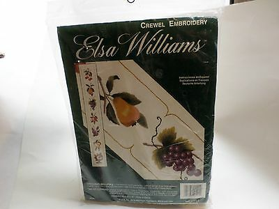 Elsa Williams Crewel Embroidery Orchard Bellpull Grapes Fruit Sealed