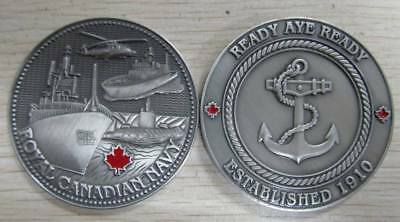 Royal Canadian Navy Collectible Challenge Coin