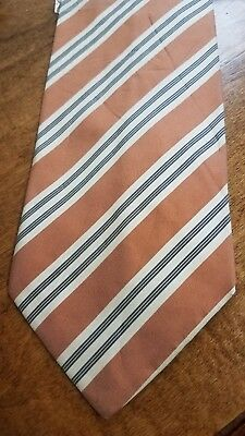 Hugo BOSS Striped Men's Neck Tie NEW 100% Silk Necktie for Wedding Small Stain