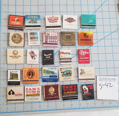 Lot (25) Vintage Las Vegas Hotel & Casino Matchbooks