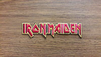Iron Maiden,iron On Red With Yellow Edge Embroidered Patch