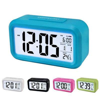 1pc Digital LCD Snooze Electronic Alarm Clock with LED Backlight Light Control