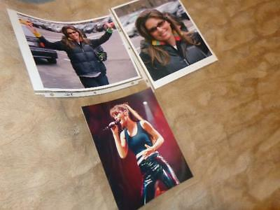 Shania Twain *Three Professional 8x10 Photos*Two Great Candids/One Onstage!