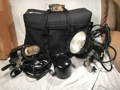 Speedotron Model 102 Set (2) With Broncolor Bag