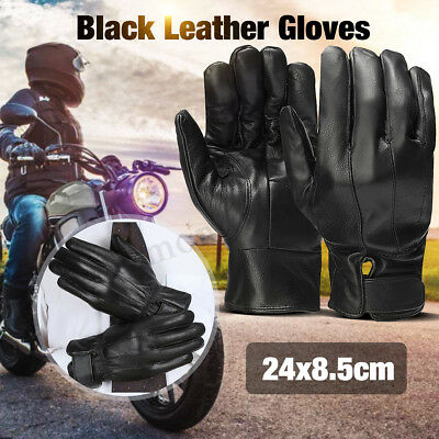 Winter Thermal Warm Full Finger Leather Waterproof Gloves Motorcycle Cycling CA