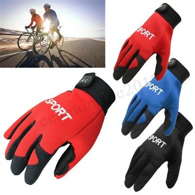 Gel MTB Bike Bicycle Cycling Breathable Riding Sports Full Finger Warm Gloves CA