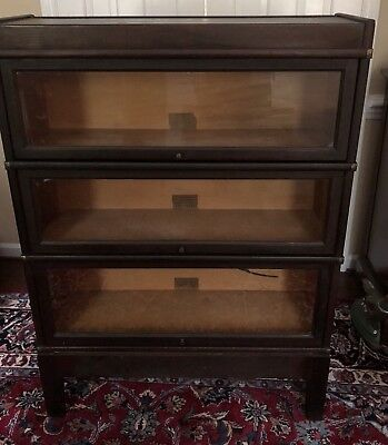 Antique GLOBE WERNICKE 3 Stack Barrister Bookcase - early 1900's