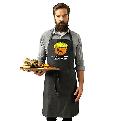 Funny Novelty Apron Kitchen Cooking - Make Halloween Great Again
