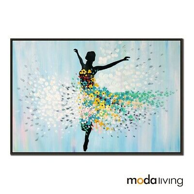 New Hand Painted Modern Abstract Oil Painting Canvas Wall Art Framed Ballerina