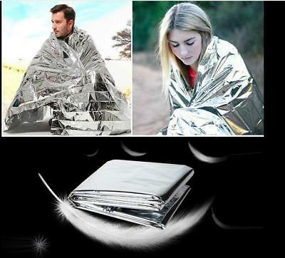 Space Blanket Thermal Thermo Foil Emergency Survival Camping Rescue First Aid
