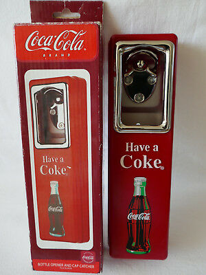 Coca Cola Bottle Opener Cap Catcher Flaschenöffner Sammlung Usa Wandmontage Neu