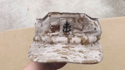 Us Navy Nwu Type Ii Cap Cover Lid 8-Point Hat Men's 7-3/4 Aor1 Usn Chief