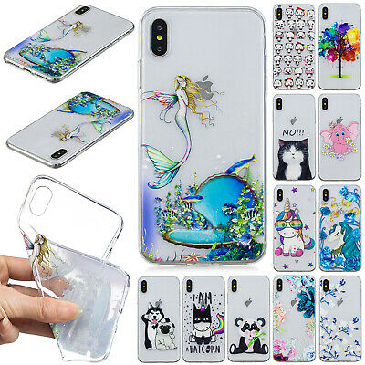 For Apple iPhone XS Max XR 8+ 7 6s Soft TPU Silicone Slim Clear Skin Case Cover
