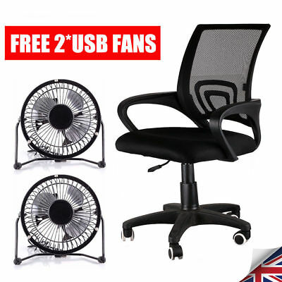 Office Chair Mesh Adjustable Computer 360° Swivel Fabric Ergonomic Lift Chrome